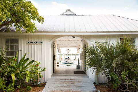 Cabbage Key dockhouse by land
