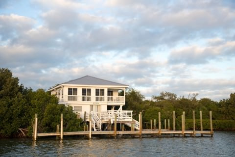 Harbor View Rental Cottage by water
