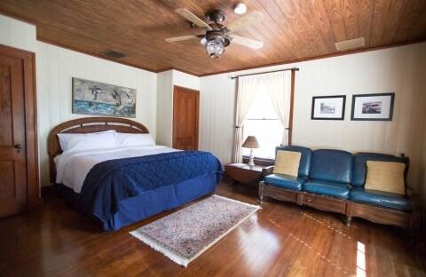 Room #1 Cabbage Key Inn.  King bed bedroom