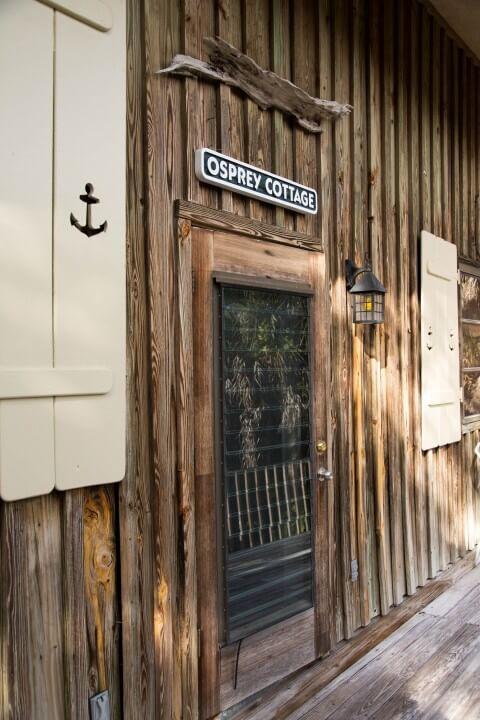Front door Osrpey Cottage