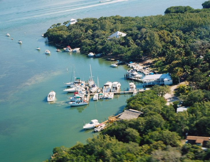 Aerial view of Cabbage Key, Florida.