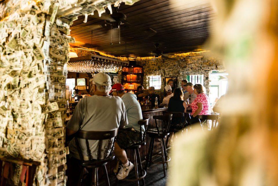 Bar at Cabbage Key Restaurant